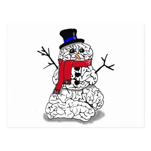 Cerebro de la nieve tarjeta postal