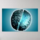 Cerebro de la placa de circuito póster