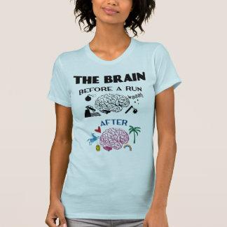 Cerebro de los corredores camiseta