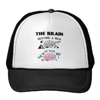Cerebro de los corredores gorros bordados