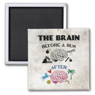 Cerebro de los corredores imán de frigorifico