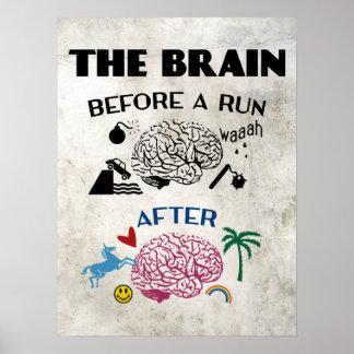 Cerebro de los corredores poster
