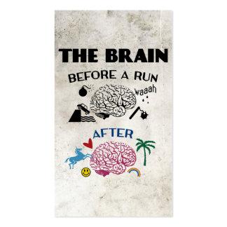 Cerebro de los corredores tarjetas de visita