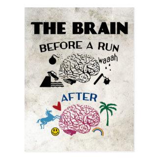 Cerebro de los corredores tarjetas postales