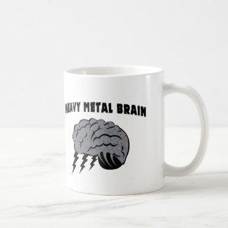 Cerebro de metales pesados taza de café