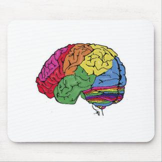 Cerebro del arco iris alfombrilla de raton