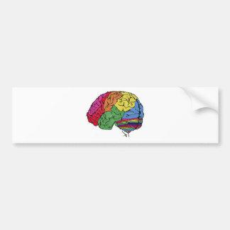 Cerebro del arco iris etiqueta de parachoque