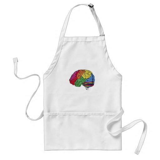 Cerebro del arco iris delantales