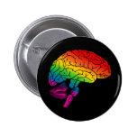 Cerebro del arco iris pin