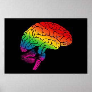 Cerebro del arco iris póster
