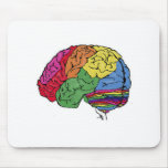 Cerebro del arco iris tapete de raton