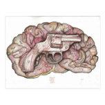 Cerebro del arma tarjetas postales