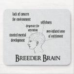 Cerebro del criador alfombrillas de ratón
