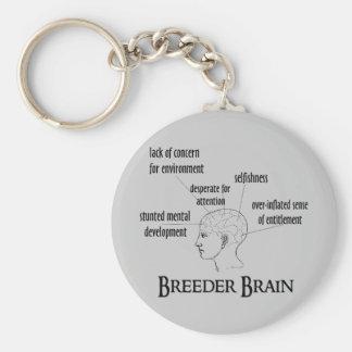 Cerebro del criador llavero redondo tipo pin