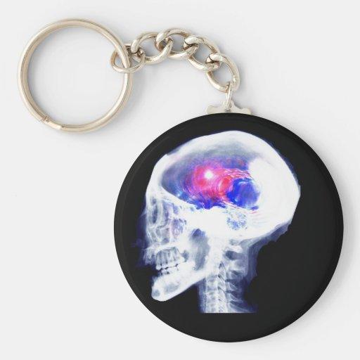 Cerebro del Cyborg Llavero