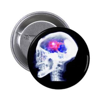 Cerebro del Cyborg Pin Redondo De 2 Pulgadas