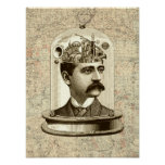 Cerebro del mecanismo del steampunk del Victorian Posters