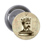 Cerebro del mecanismo del steampunk del vintage, pin