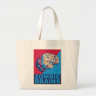 Cerebro del zombi bolsa tela grande