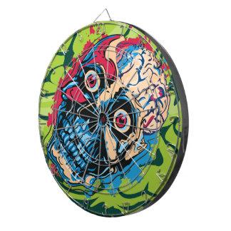 Cerebro del zombi tablero de dardos
