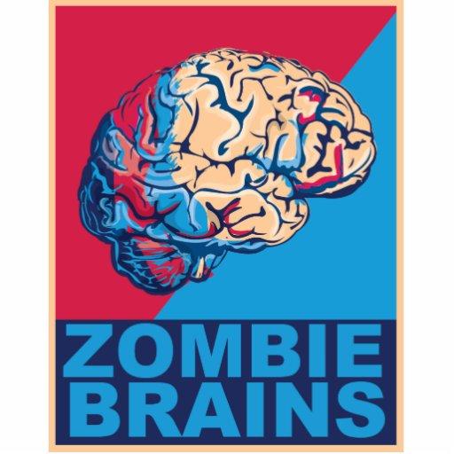 Cerebro del zombi fotoescultura vertical