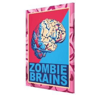 Cerebro del zombi impresiones en lienzo estiradas