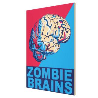 Cerebro del zombi impresion de lienzo