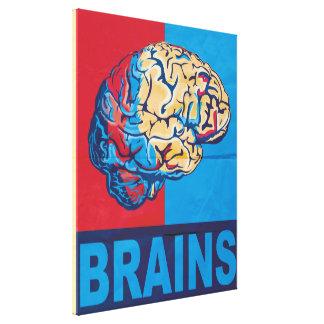 Cerebro del zombi impresión en lona