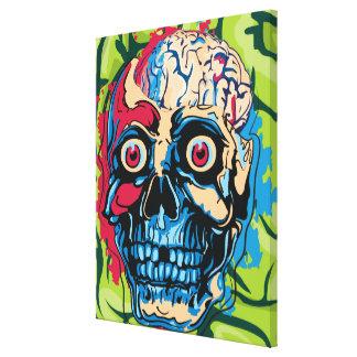 Cerebro del zombi impresión de lienzo