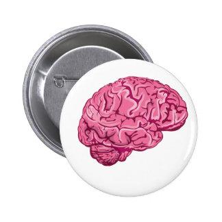 Cerebro del zombi chapa redonda 5 cm