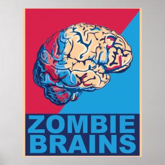 Cerebro del zombi póster