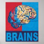 Cerebro del zombi posters
