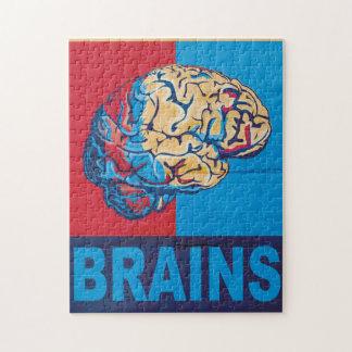 Cerebro del zombi puzzles con fotos