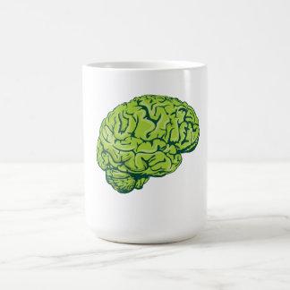 Cerebro del zombi taza básica blanca