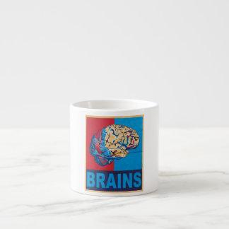 Cerebro del zombi taza espresso