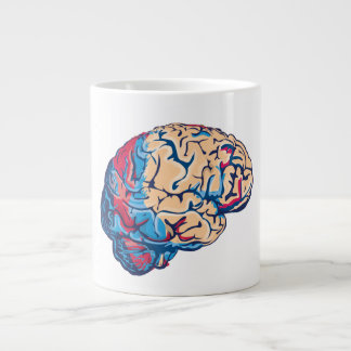 Cerebro del zombi taza grande