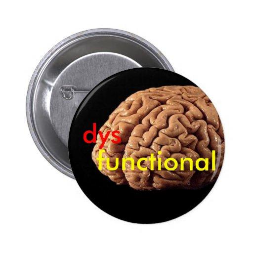 cerebro, dys, funcionales pin redondo 5 cm