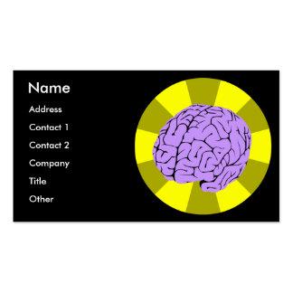 Cerebro elegante tarjetas de visita