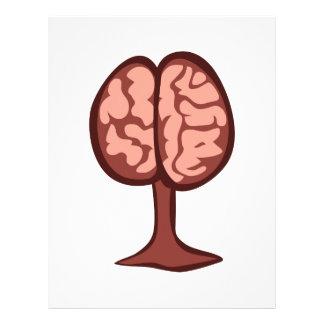 Cerebro en soporte membrete personalizado
