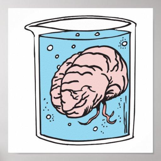 cerebro en un tarro poster