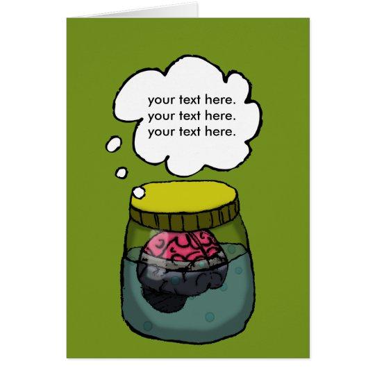 Cerebro en una cuba tarjeta de felicitación