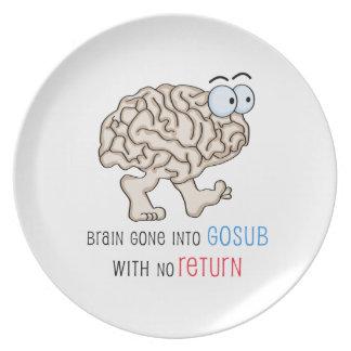 Cerebro entrado GoSub sin vuelta Plato Para Fiesta