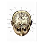 Cerebro expuesto anatomía retra del monstruo del postal