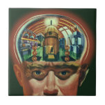 Cerebro extranjero de la ciencia ficción del teja