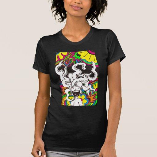 Cerebro feliz psicodélico camiseta