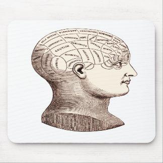 Cerebro frenológico Mousepad seccional del vintage Alfombrillas De Raton