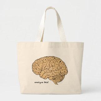 Cerebro humano: ¡Analice esto! Bolsa Tela Grande