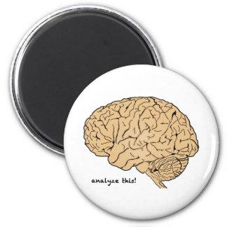 Cerebro humano: ¡Analice esto! Imán Redondo 5 Cm
