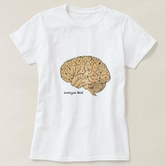 Cerebro humano: ¡Analice esto! Playeras