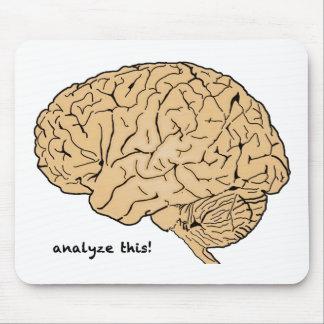 Cerebro humano: ¡Analice esto! Alfombrilla De Ratón